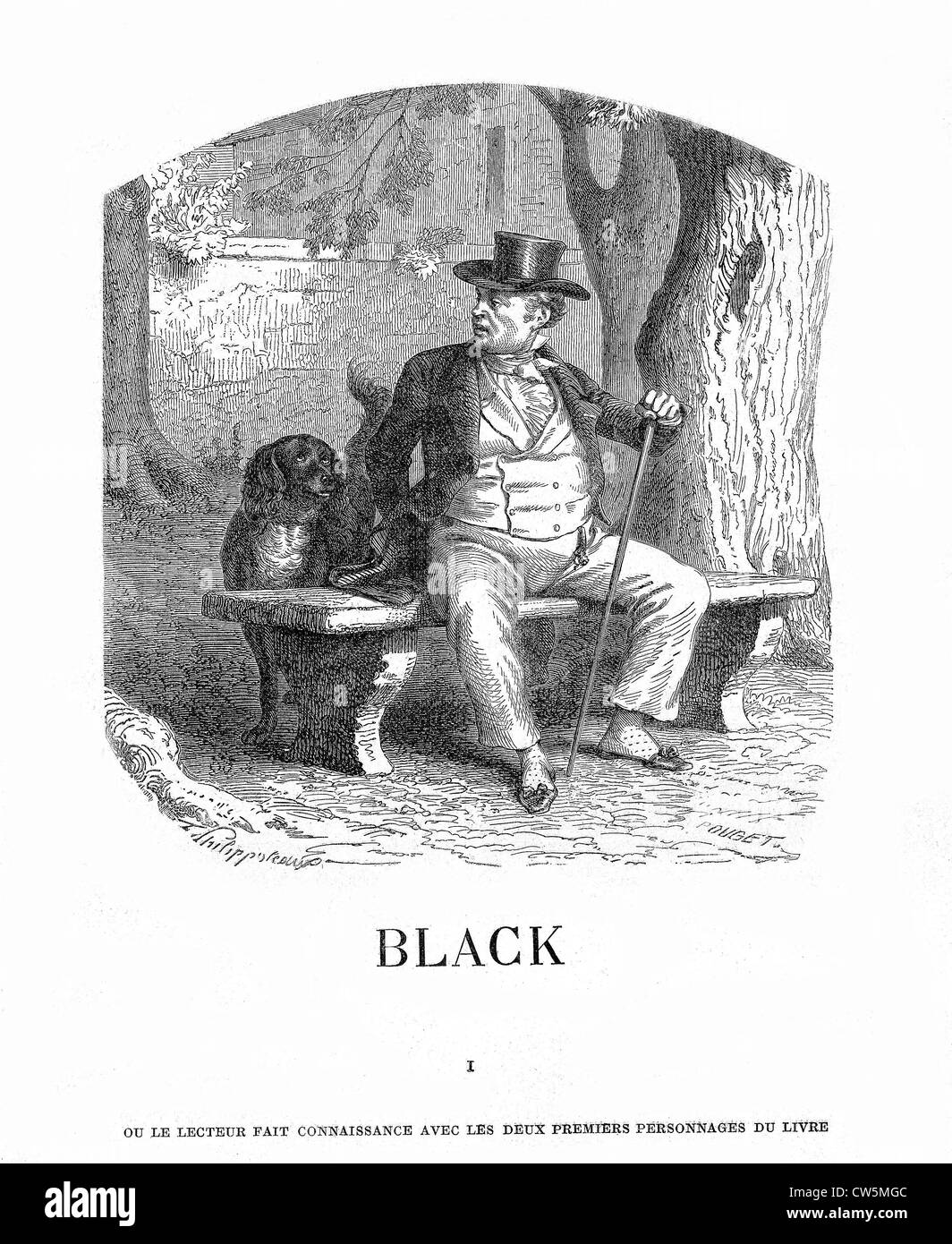 Black: The Story of a Dog - Stock Image