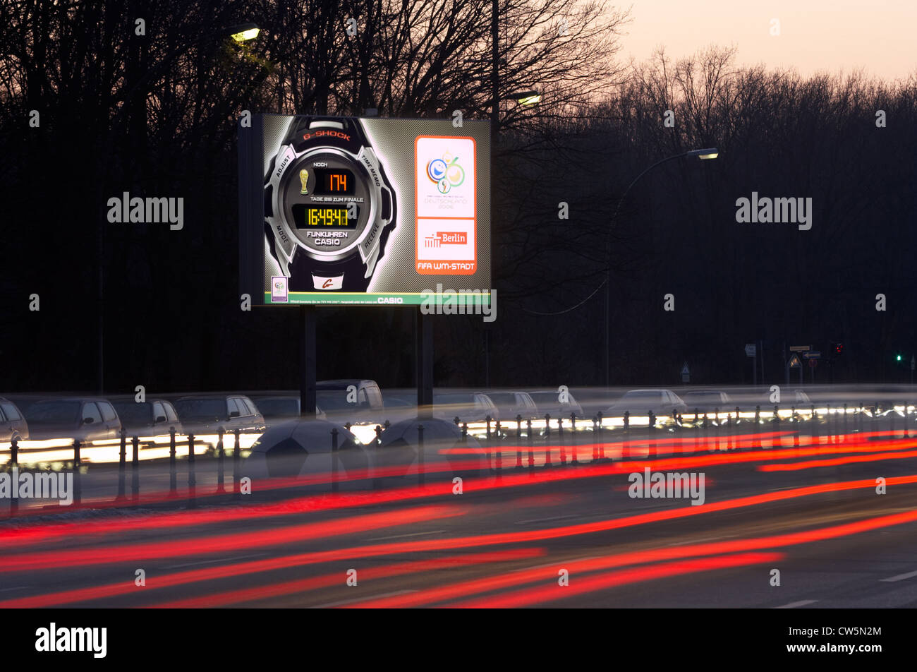 Berlin - advertising the watch company of Casio World Cup 2006 - Stock Image