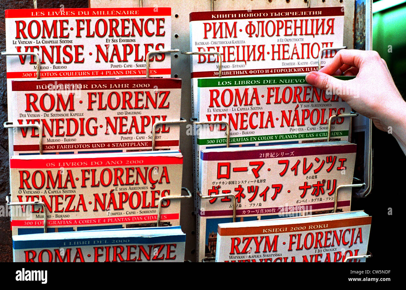 Rome, guides in different languages Stock Photo