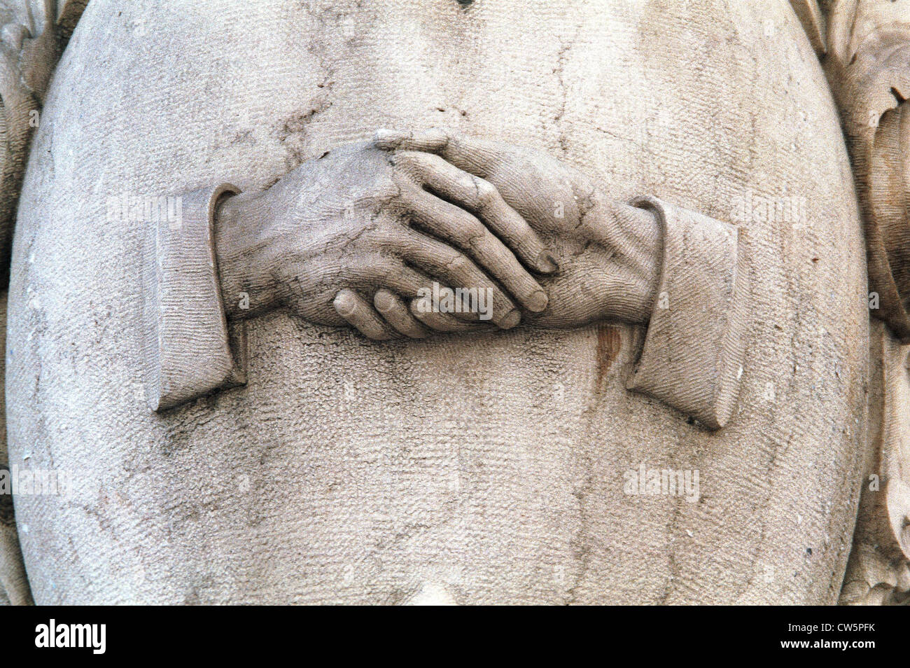 Lisbon icon, shake hands - Stock Image