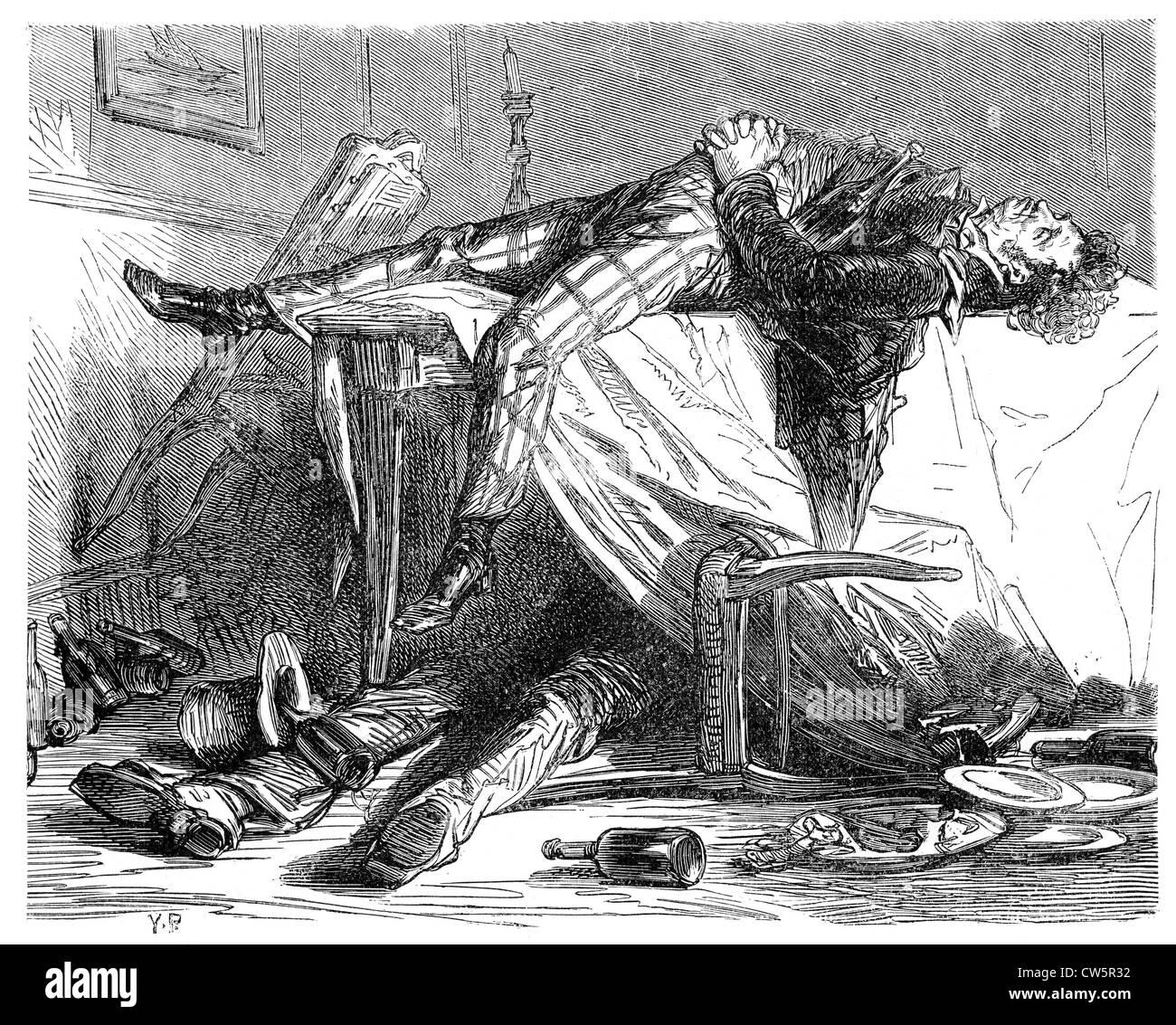 Dumas, 'Les bord du Rhin' - Stock Image