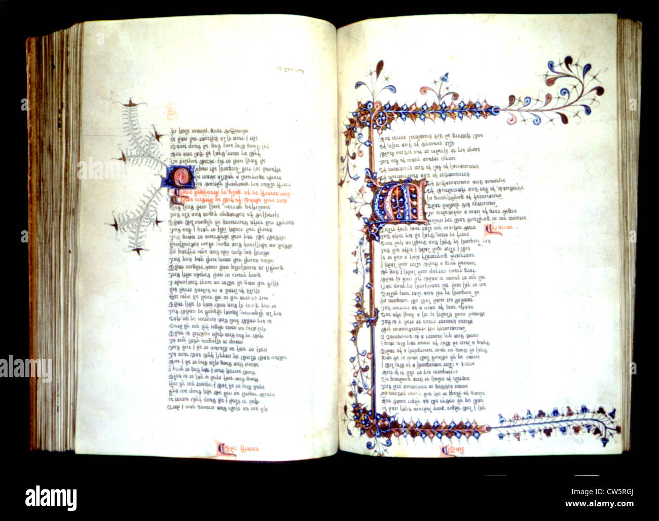 Geoffrey Chaucer, the Canterbury tales - Stock Image