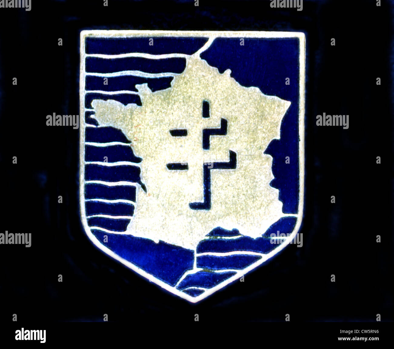 Insignia of 'Free France' - Stock Image