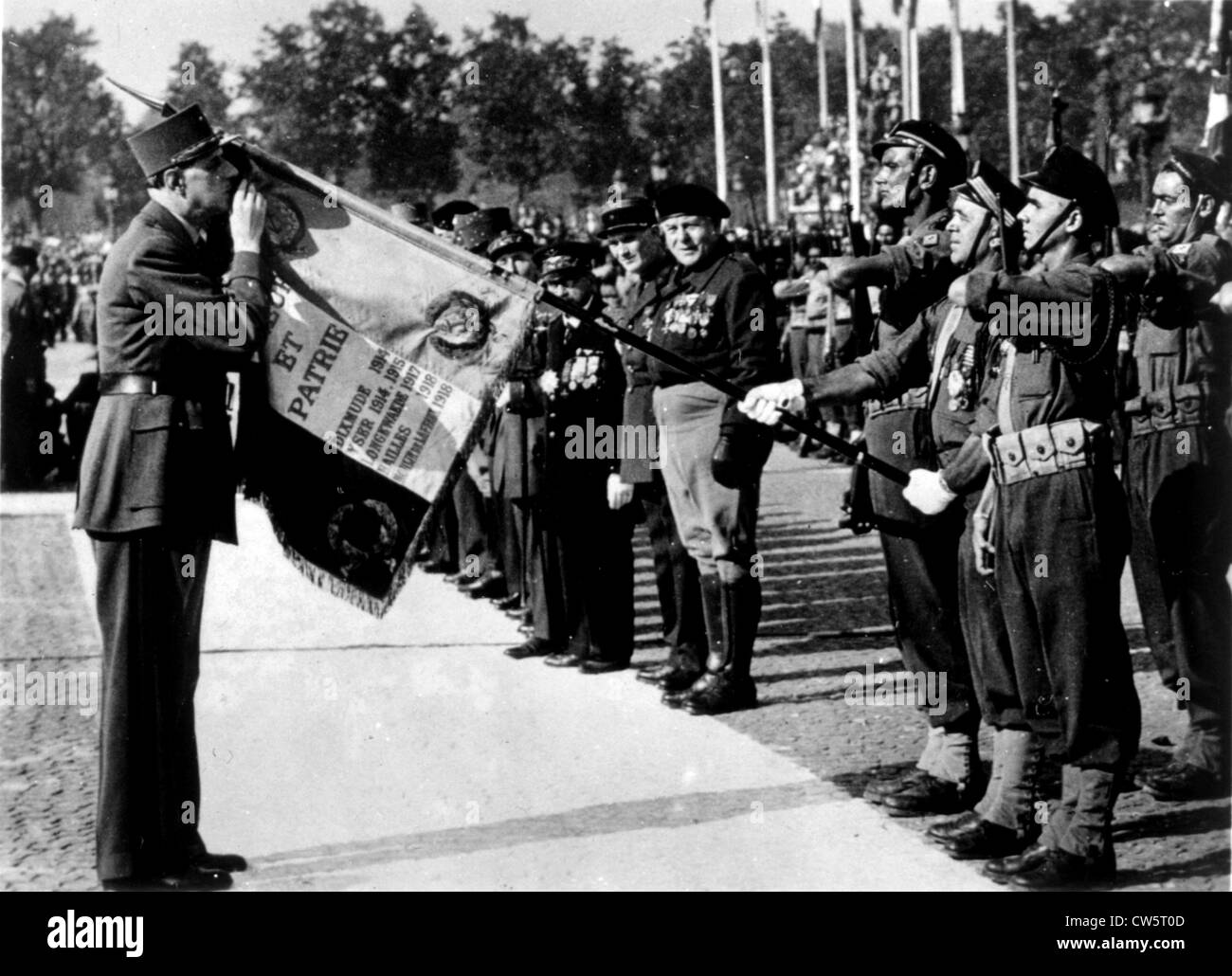 Liberation of France. Victory parade in Paris, 1945 - Stock Image