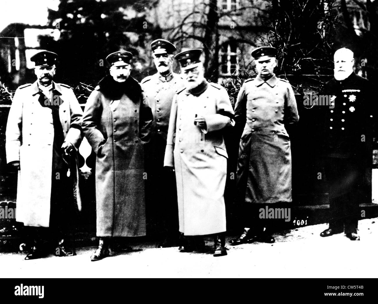 The leaders of the eastern front here in Pless, in Silesia - Stock Image