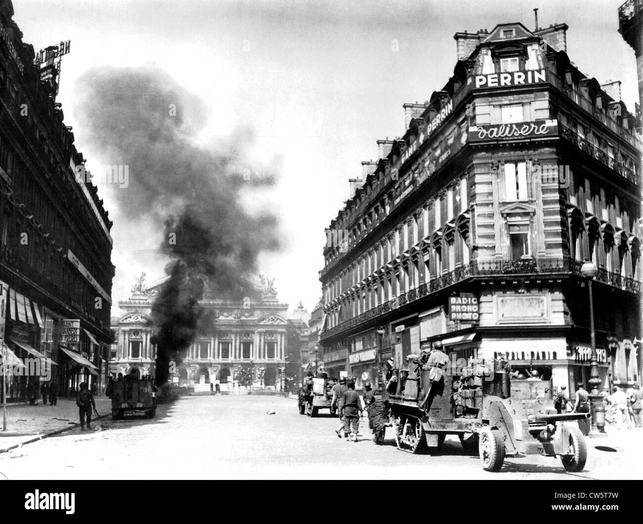 Liberation of Paris: the Allies enter the capital - Stock Image