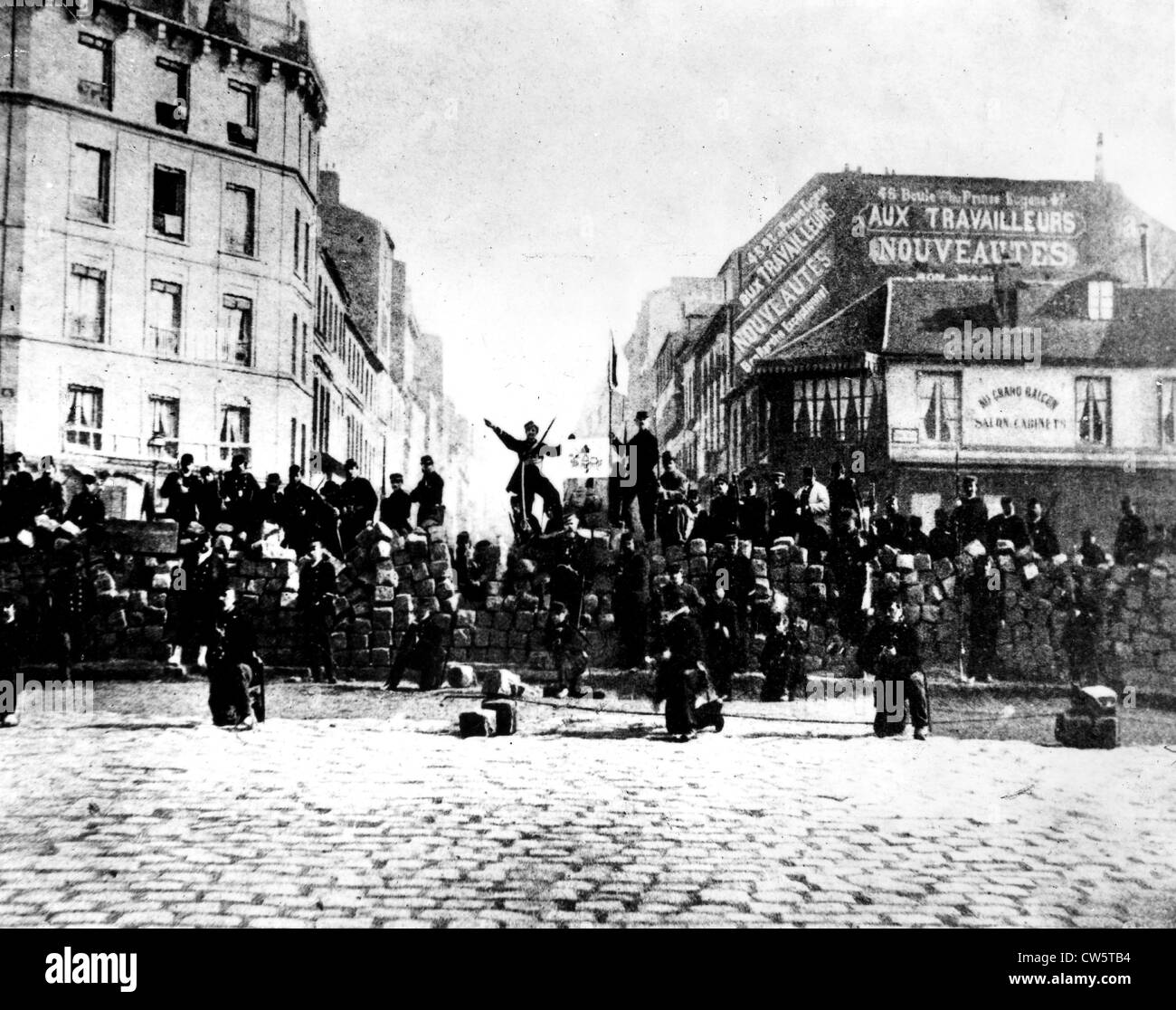 Paris. The blood-soaked week : May 21-28, 1871 - Stock Image