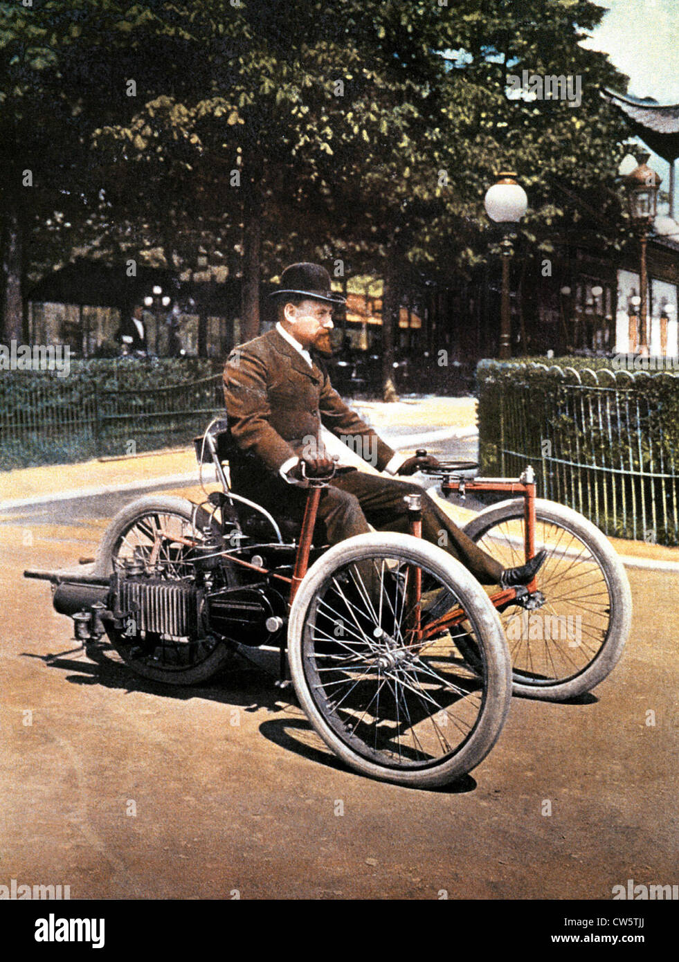 Tricycle by Léon Bollée - Stock Image