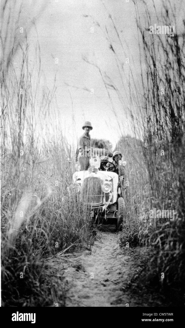 The Citroën 'Black Cruise': in the high grass near Chad on December 10, 1924 - Stock Image