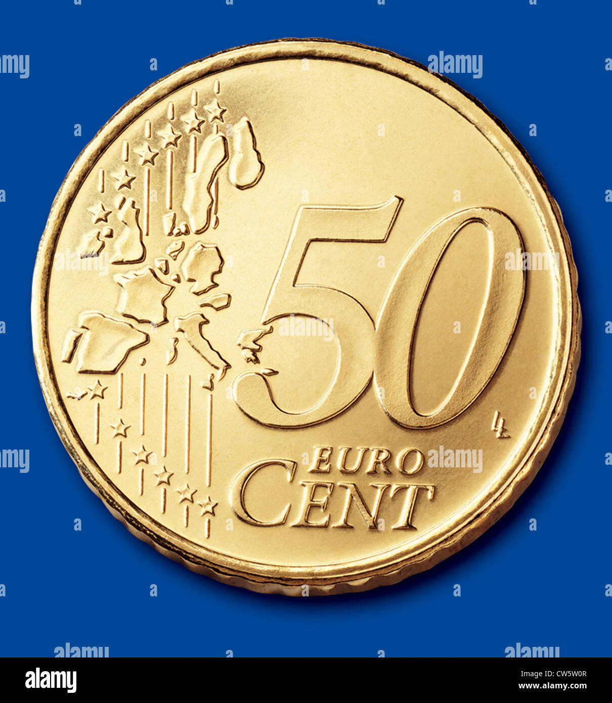 Coin of 50 cents (Euro zone) - Stock Image