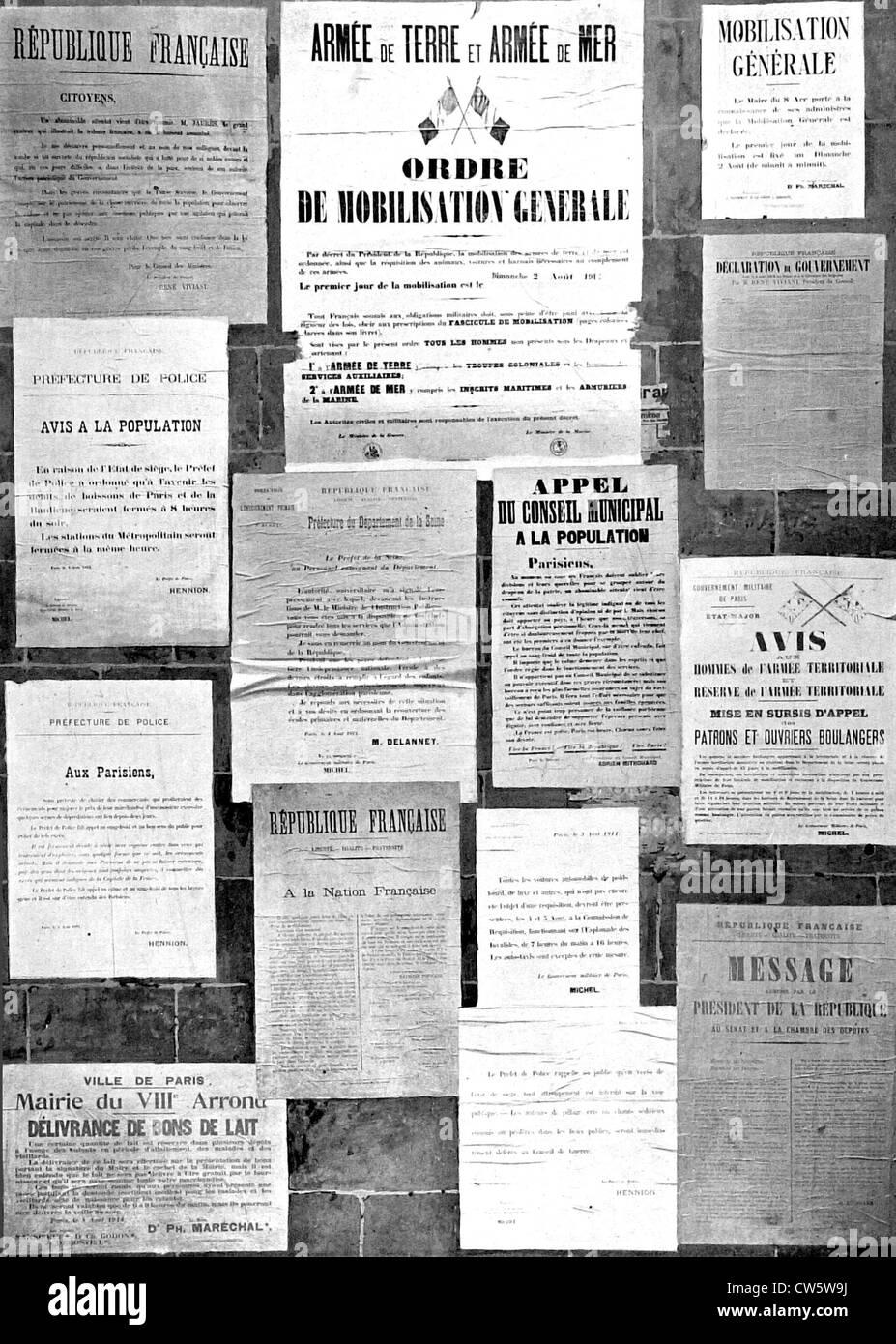 World War I, mobilization - Stock Image