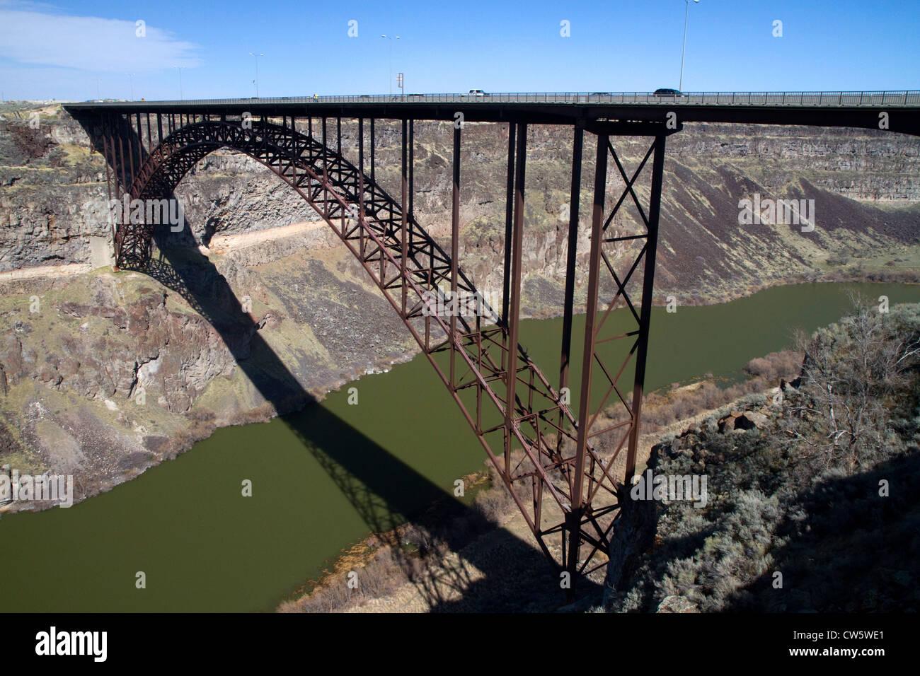 The Ib Perrine Bridge Spans The Snake River Canyon At Twin Falls