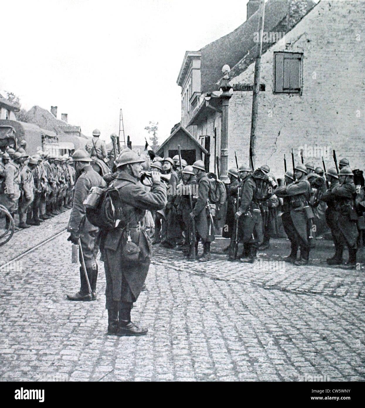 World War I. Battle of Yser - Stock Image