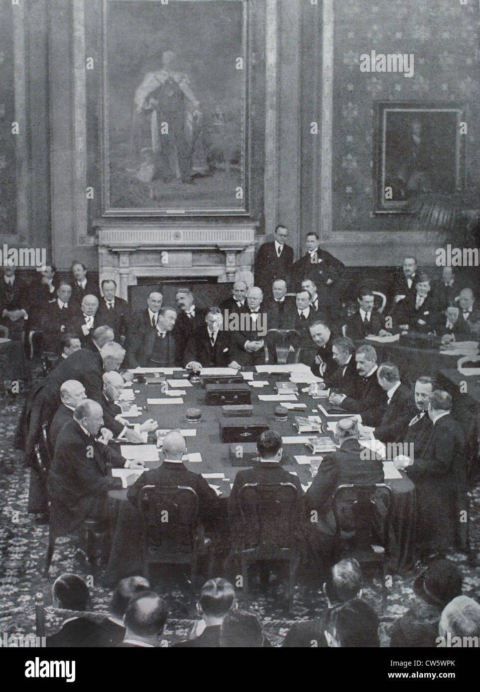 Signing Of The Locarno Agreements In The Reception Room Of The Stock