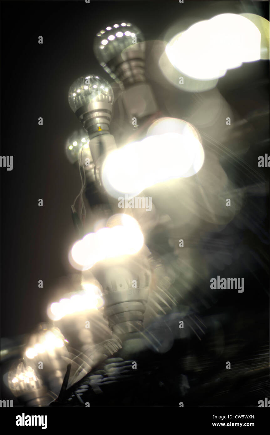 Switch LED light bulb, Switch lab, San Jose California. - Stock Image