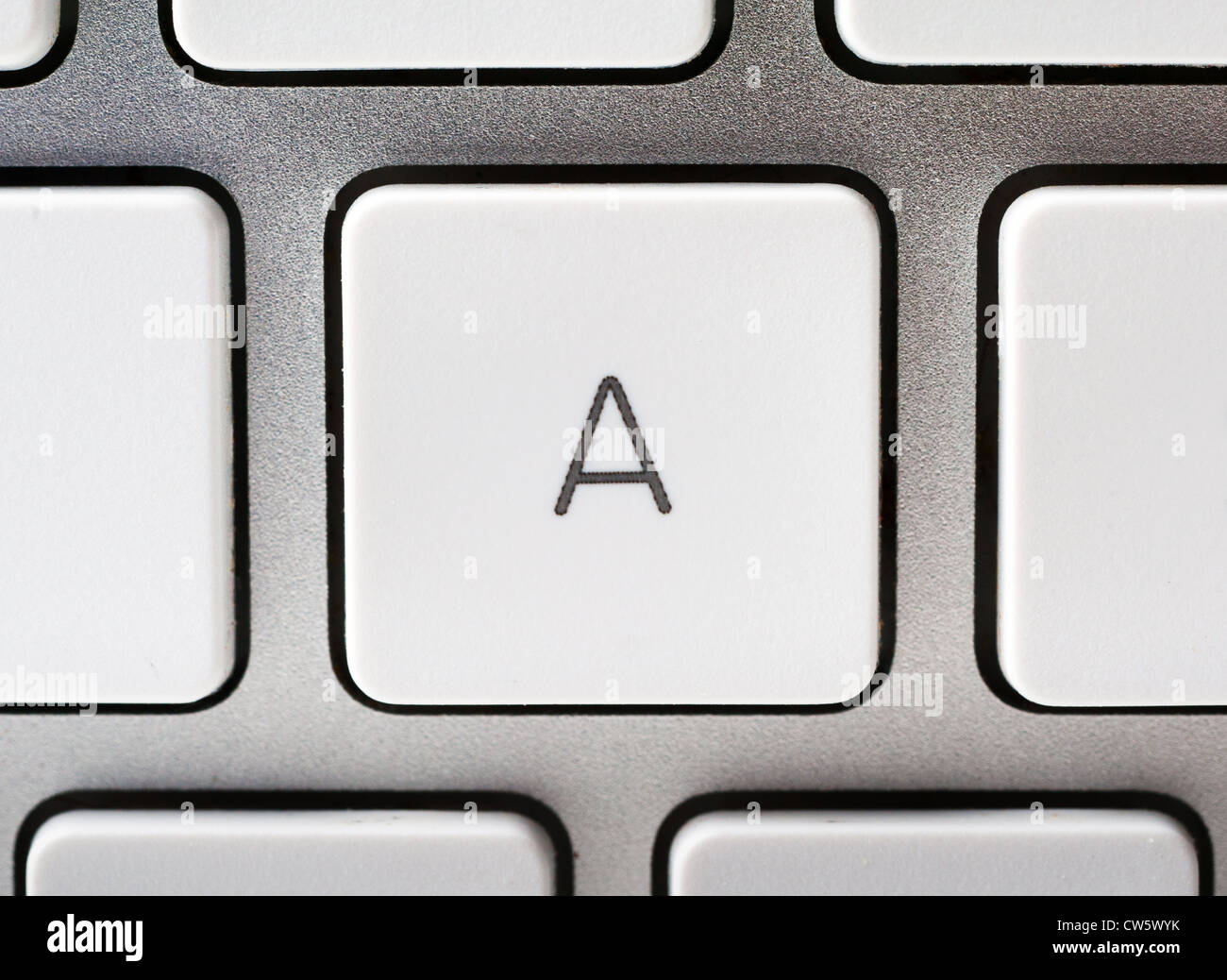 Letter A on an Apple keyboard - Stock Image