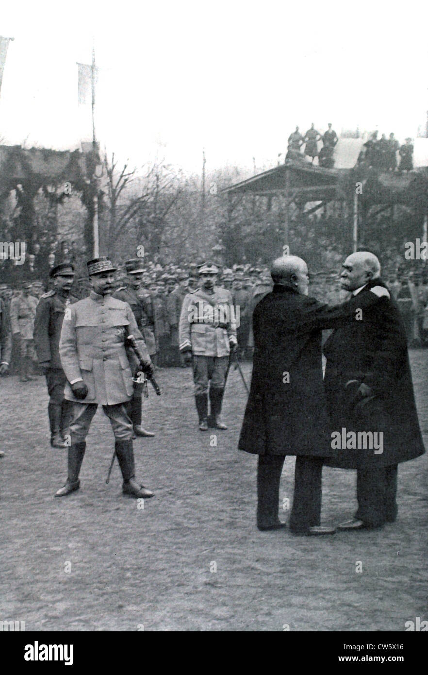 Marshal Pétain is presented with the Command Baton (December 14, 1918) - Stock Image