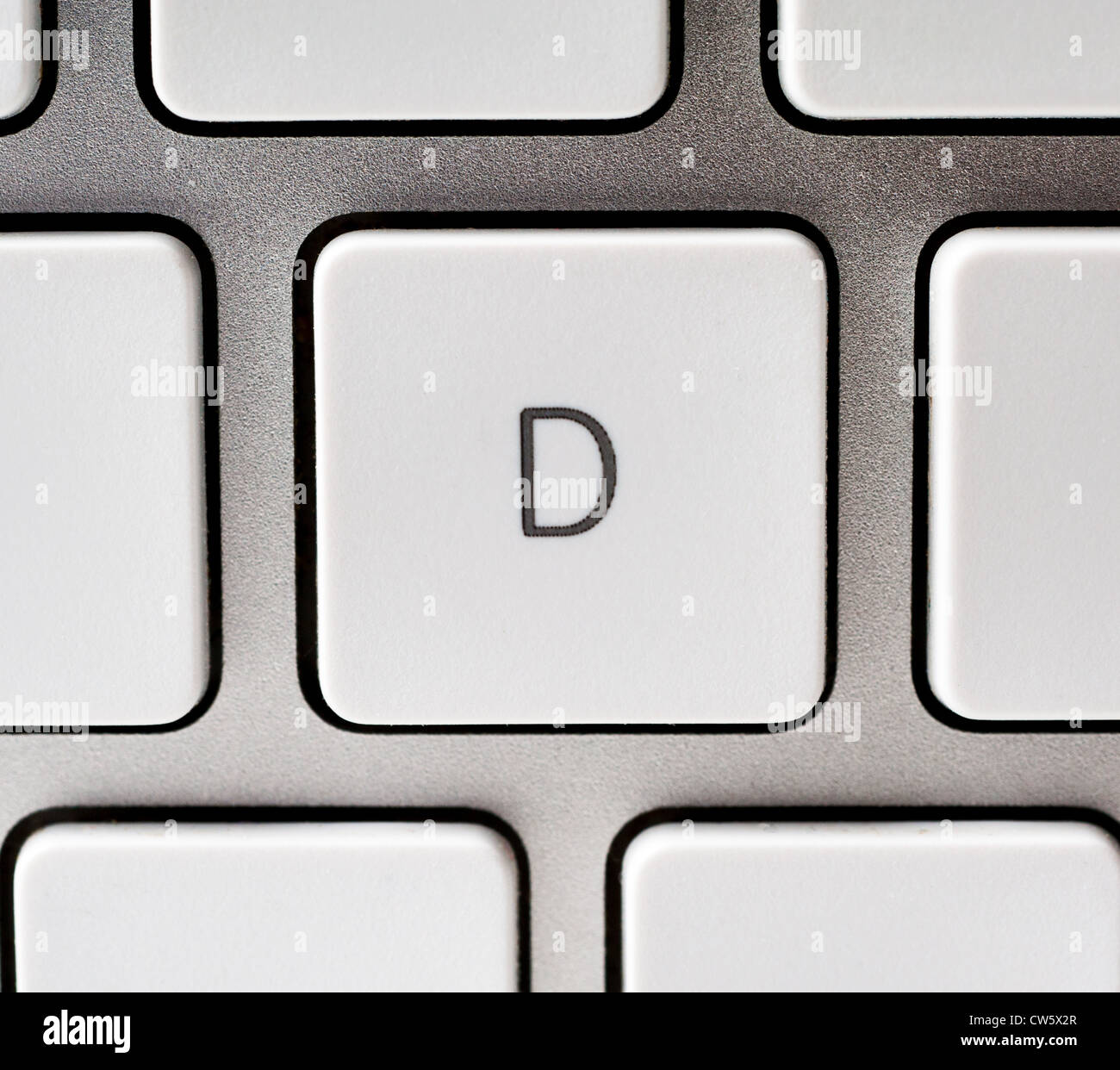 Letter D on an Apple keyboard - Stock Image