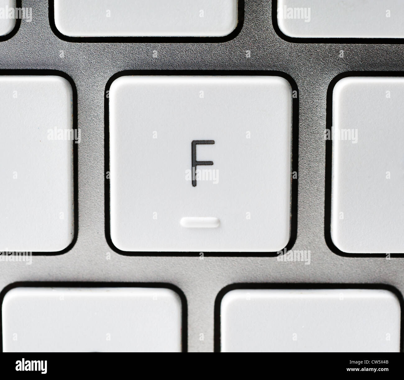 Letter F on an Apple keyboard - Stock Image