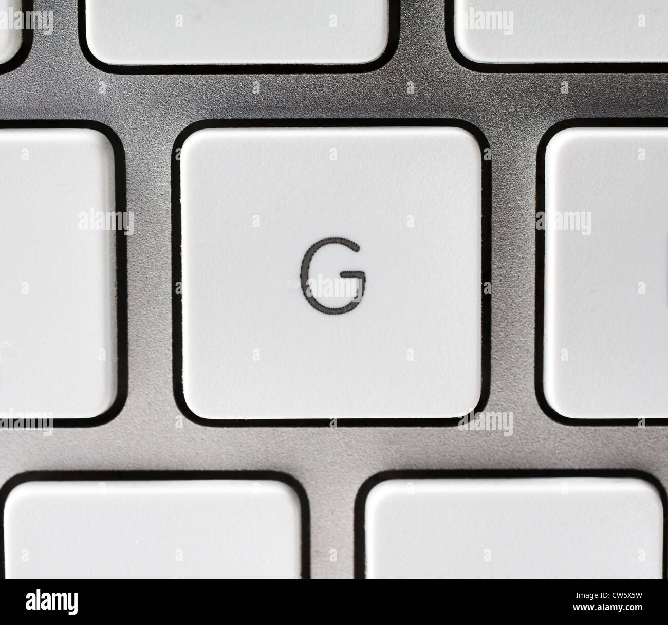 Letter G on an Apple keyboard - Stock Image