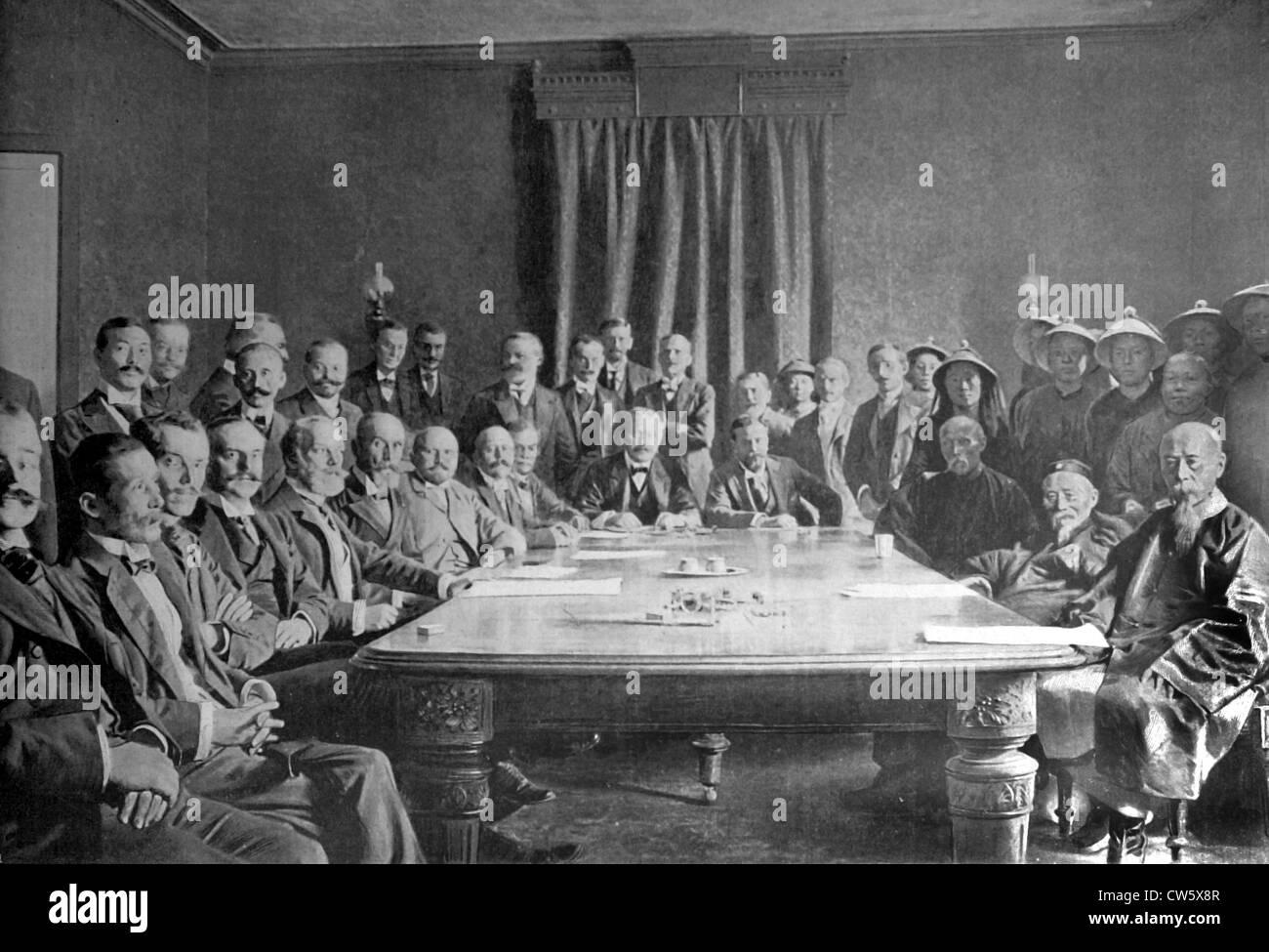China. Boxer Rebellion (September 7, 1901) - Stock Image
