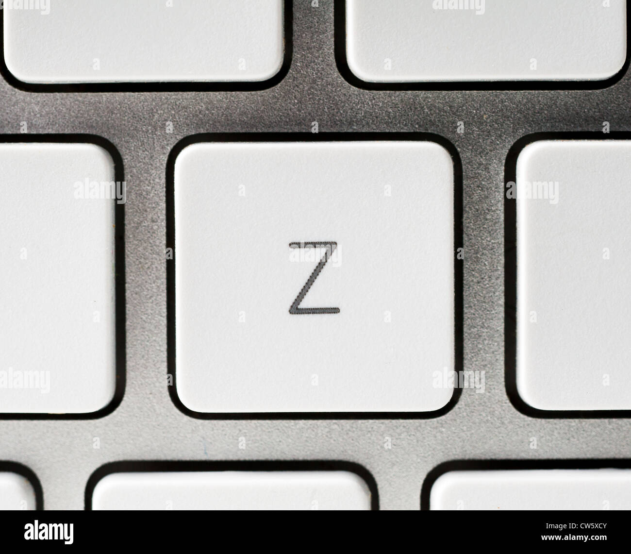 Letter Z on an Apple keyboard - Stock Image