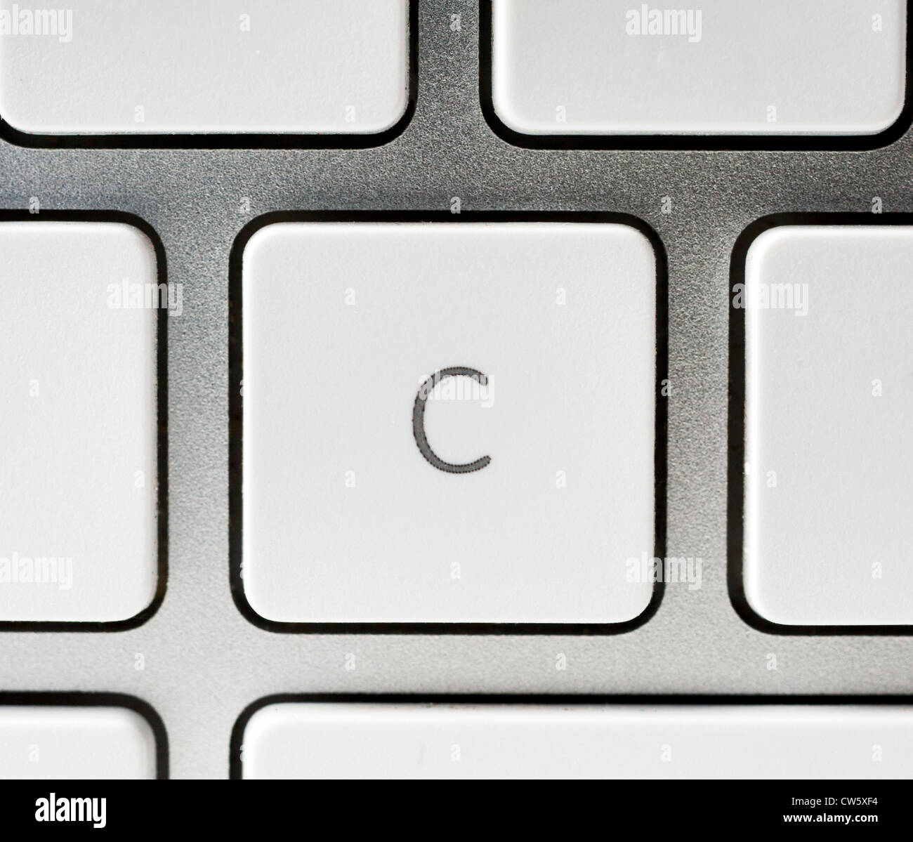 Letter C on an Apple keyboard - Stock Image