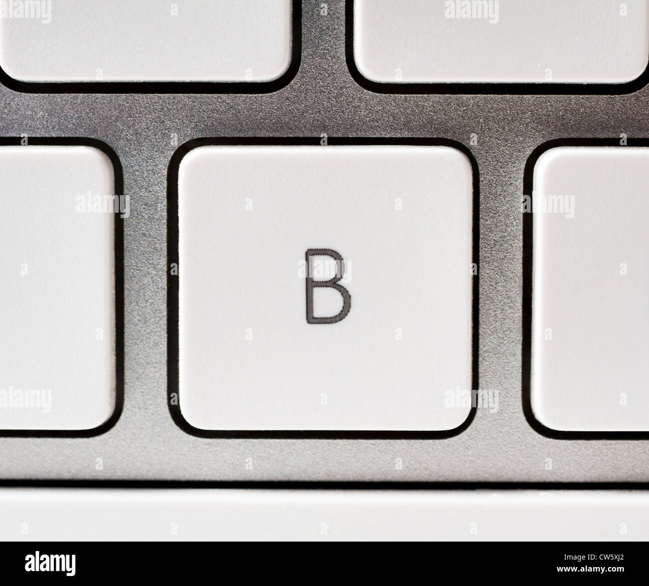 Letter B on an Apple keyboard - Stock Image