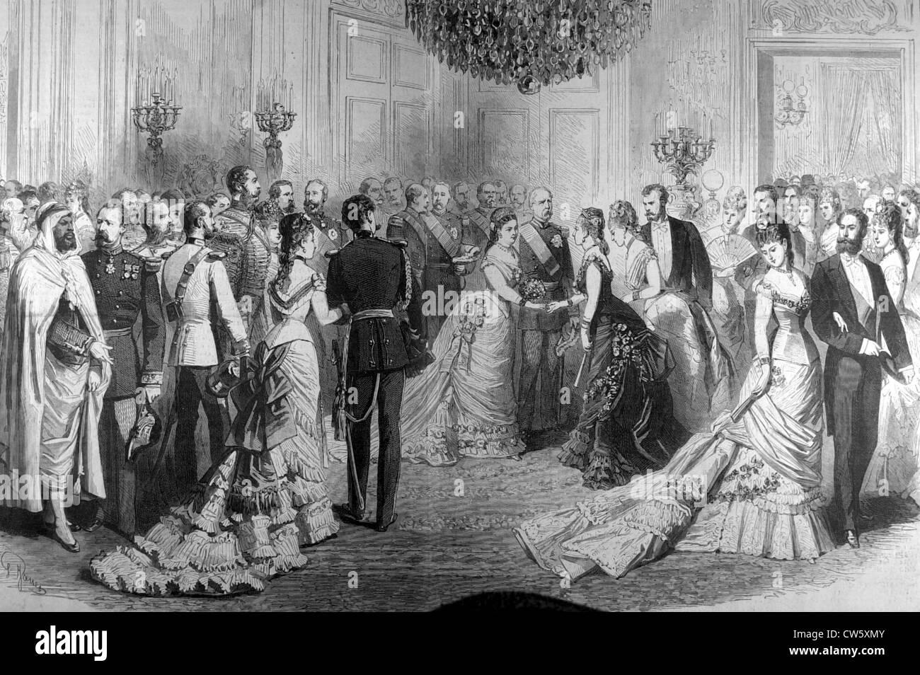 A ball at the Elysée Palace in Paris - Stock Image