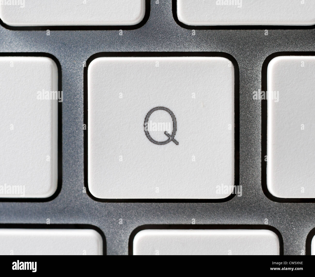 Letter Q on an Apple keyboard - Stock Image