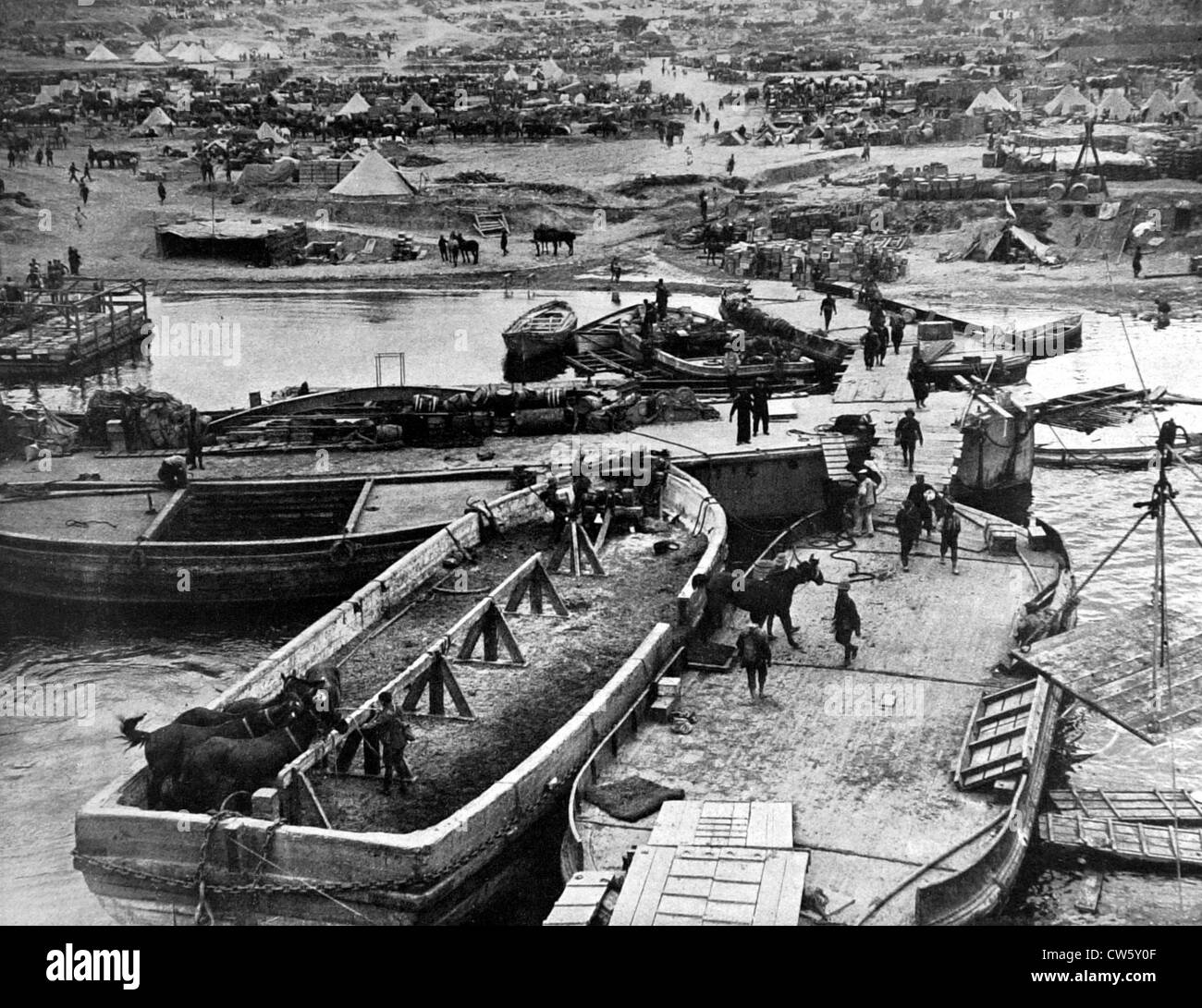 World War I. Dardanelles Campaign - Stock Image