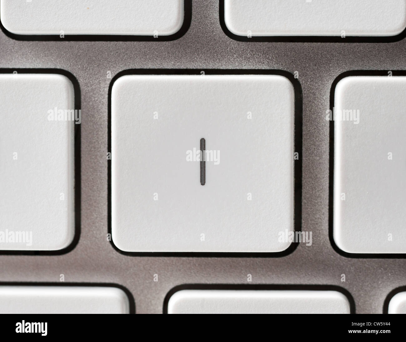 Letter I on an Apple keyboard - Stock Image