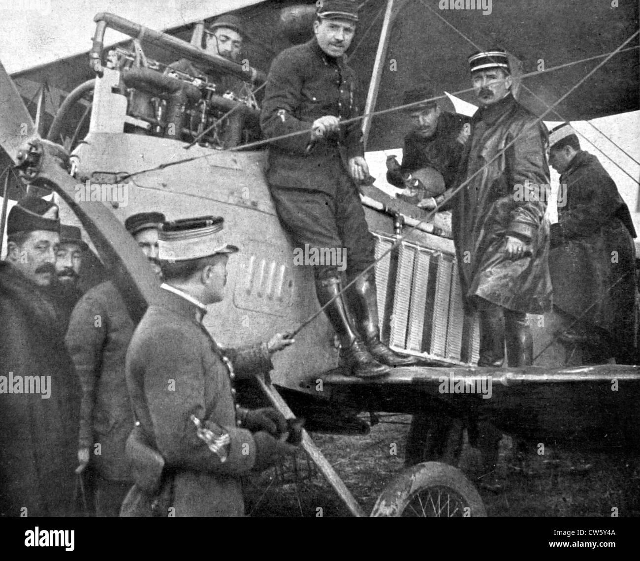 World War I. Air warfare between Chaulnes and Amiens Stock Photo