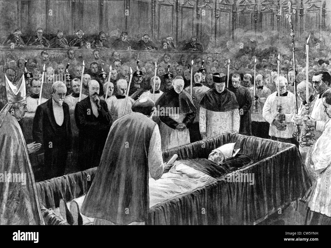Rome. Funeral of Pope Leo XIII (July 25, 1903) - Stock Image