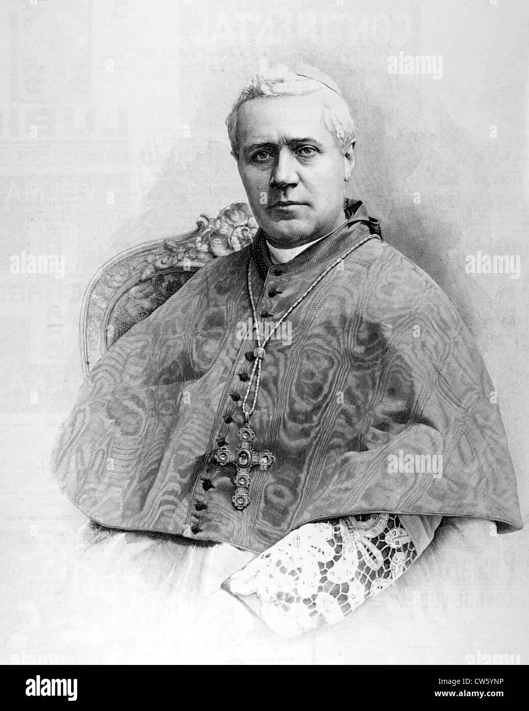 Cardinal Giuseppe Sarto, patriarch of Venice, elected pope (1903) - Stock Image