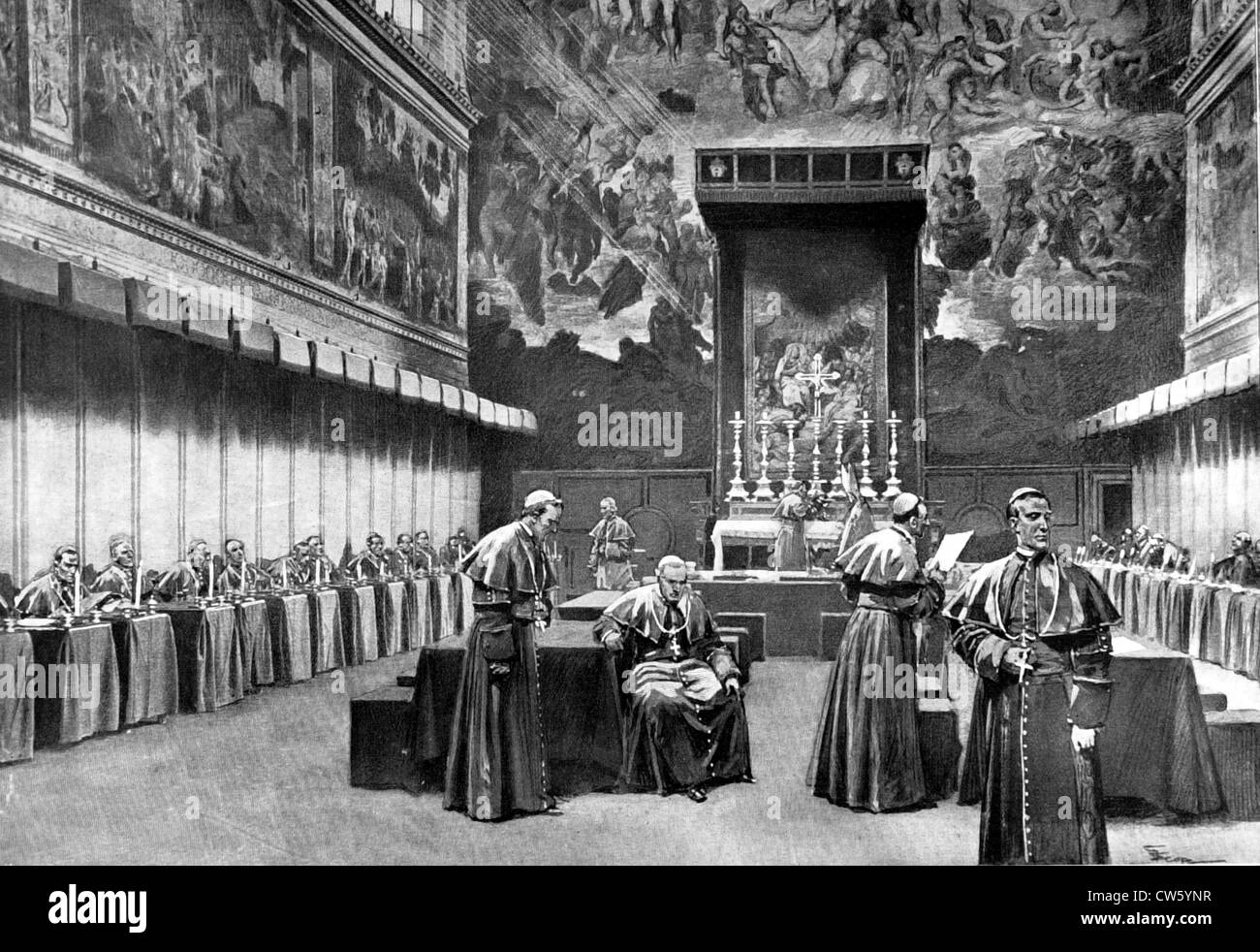 Vatican conclave of August 4, 1903 - Stock Image