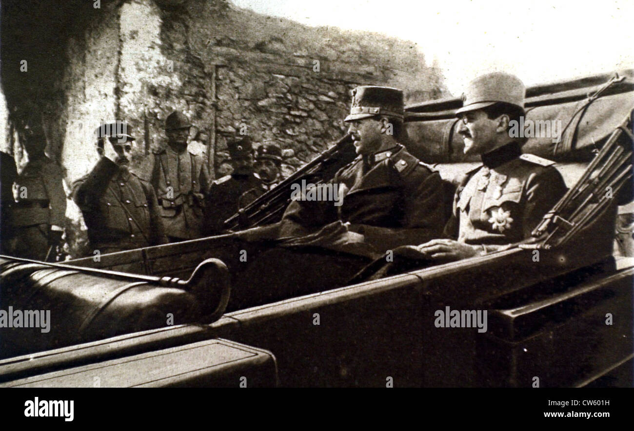 World War I The King Of Greece And Crown Prince Of Serbia At The