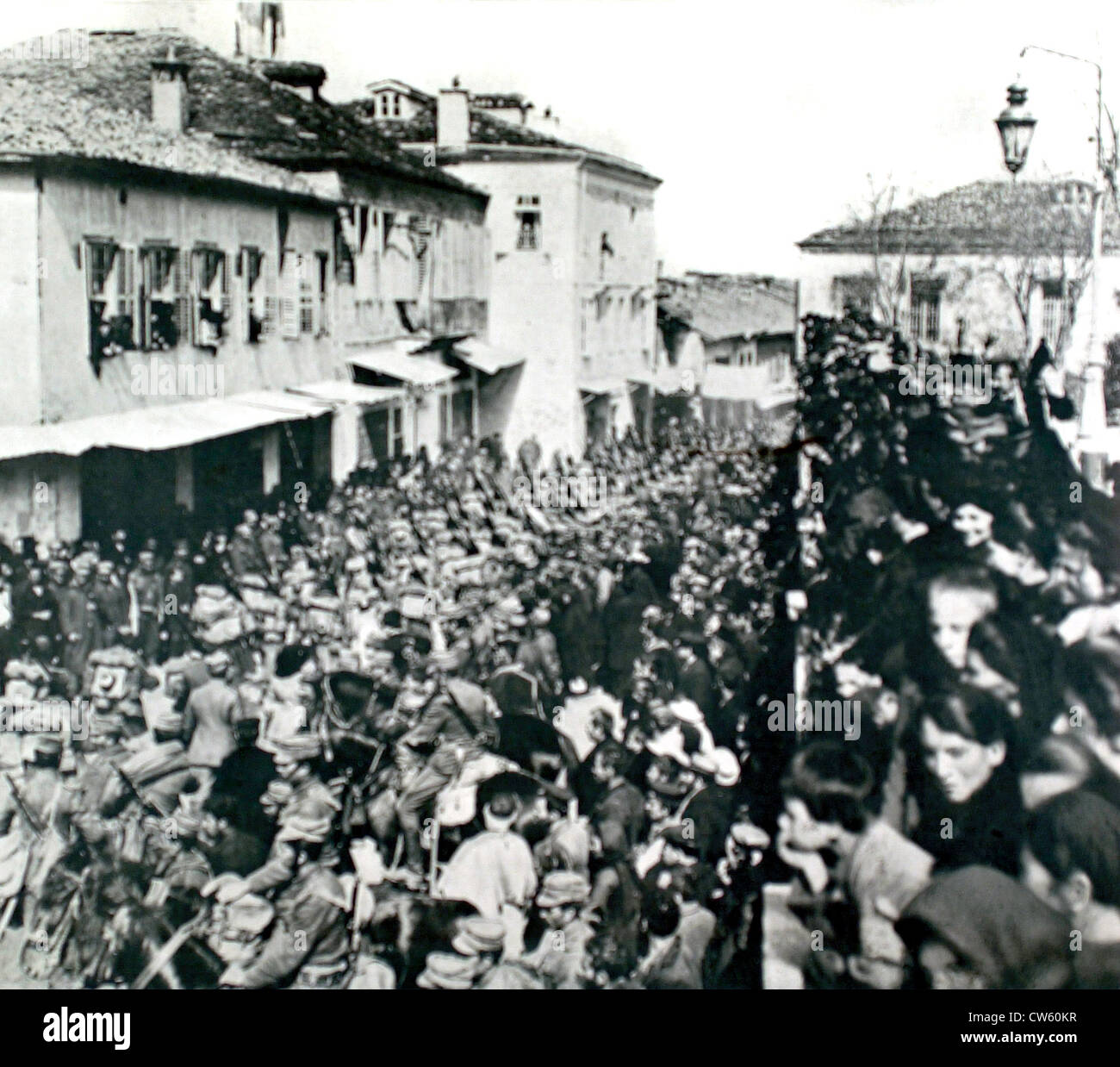 Greece. War of the Balkans. The occupation of Janina by the Greek army of Epiria (1913) - Stock Image