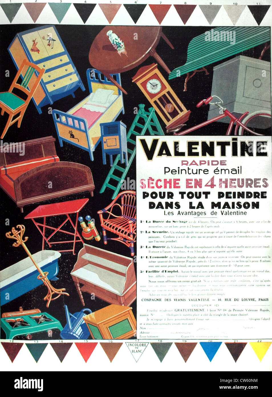 Advertising for 'Valentine' paints - Stock Image