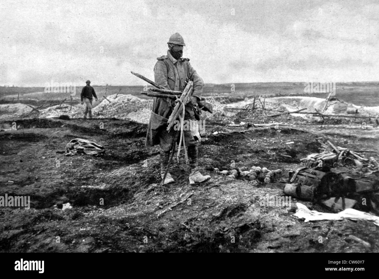 World War I. After the battle of Champagne (1915) - Stock Image