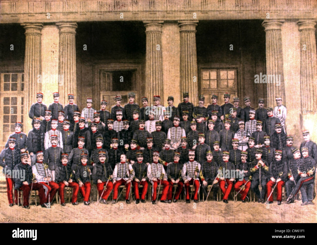 The 19th graduating class (1893-1895)  of the national war college (1895) - Stock Image