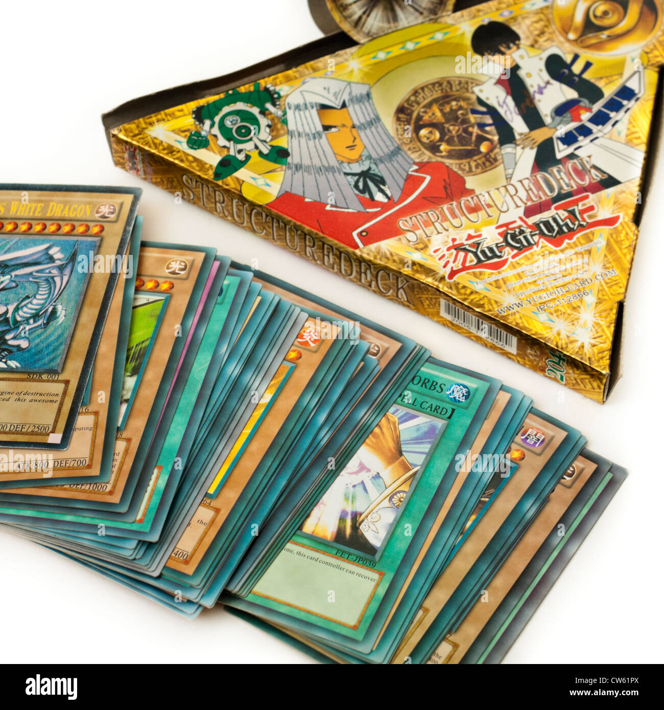 Yu-Gi-Oh! trading card game - Stock Image