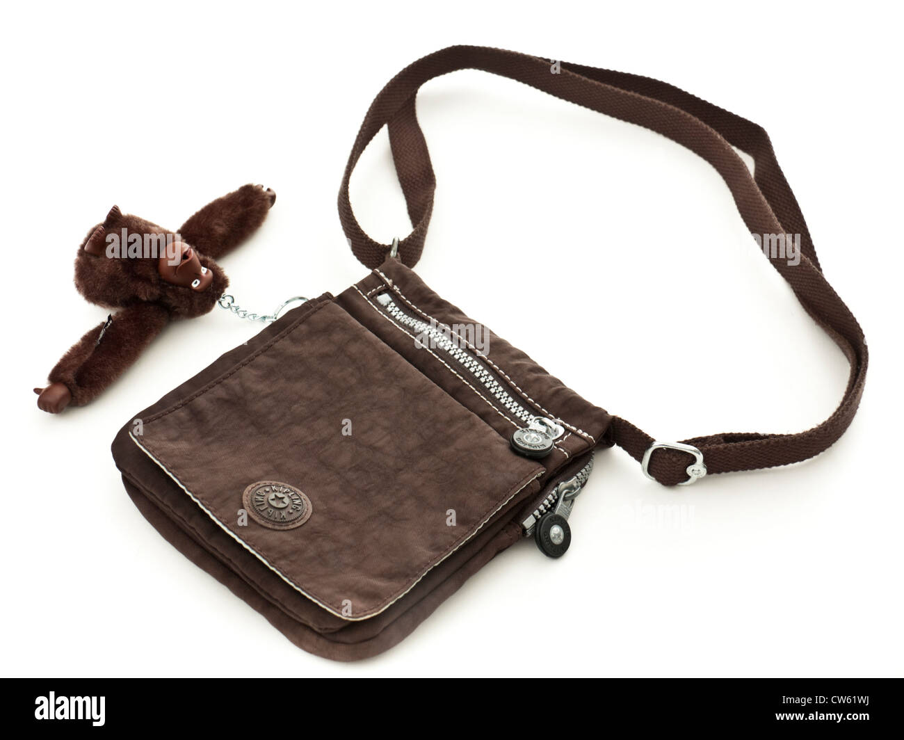9b68894f82f Designer handbag with monkey key-hanger by Kipling of Belgium Stock ...
