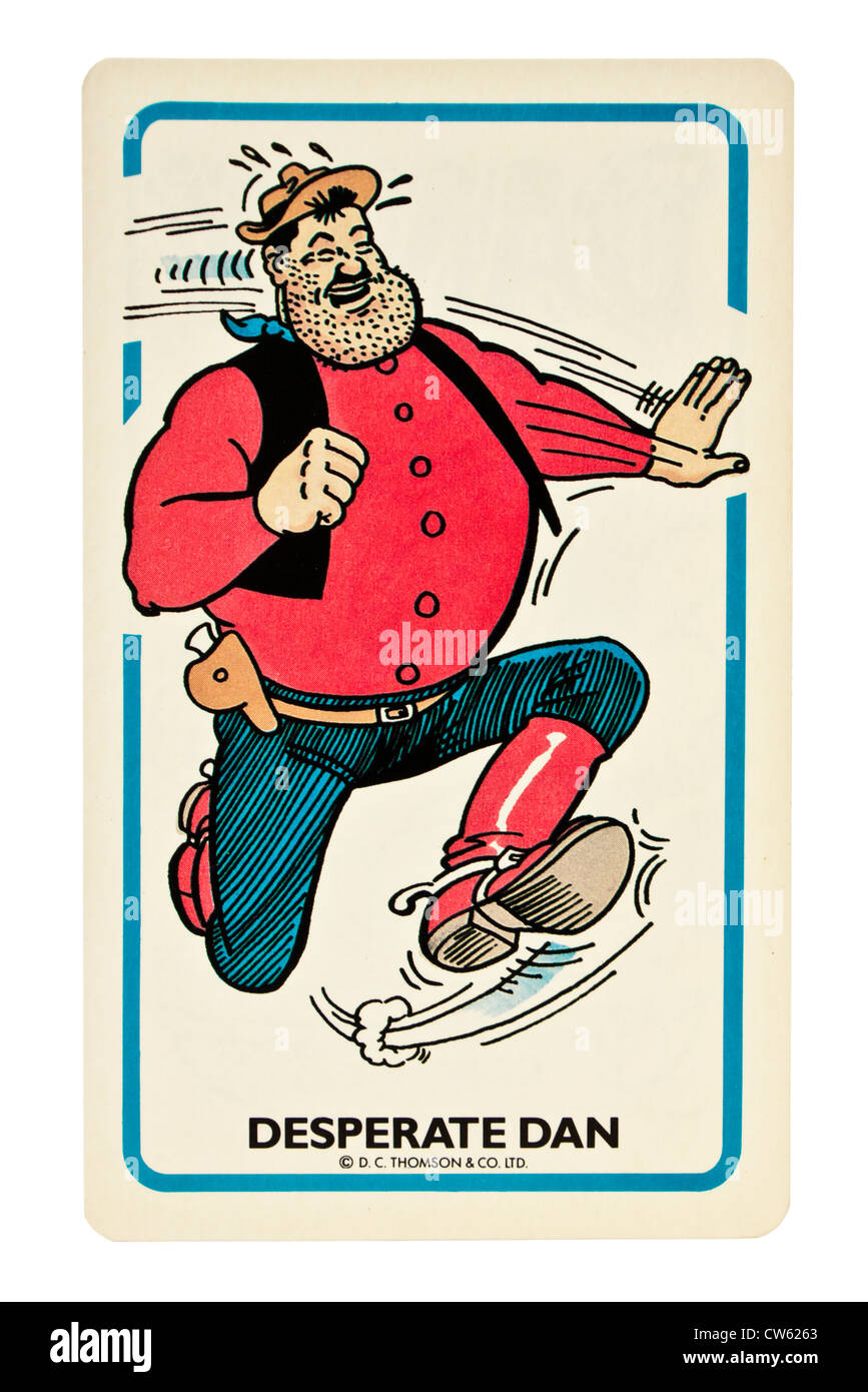Desperate Dan card from the Dandy Card Game by D.C. Thomson & Co Ltd - Stock Image