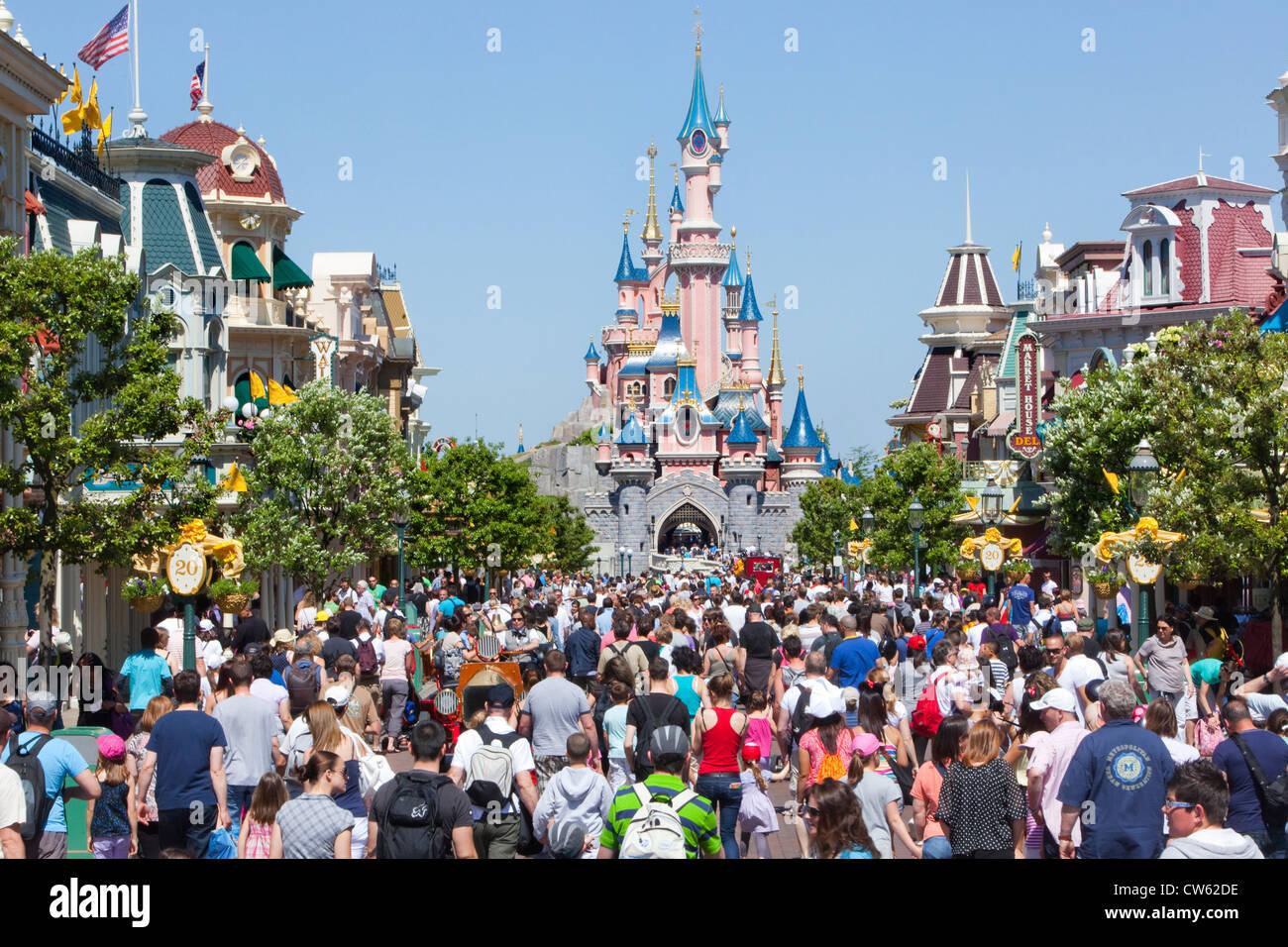 Euro Disneyland resort - Sleeping beauty castle Stock Photo