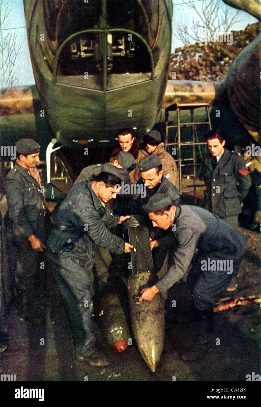 World War II.  Italian fighters on the Channel coasts, in 'Signal', February 1941. - Stock Image