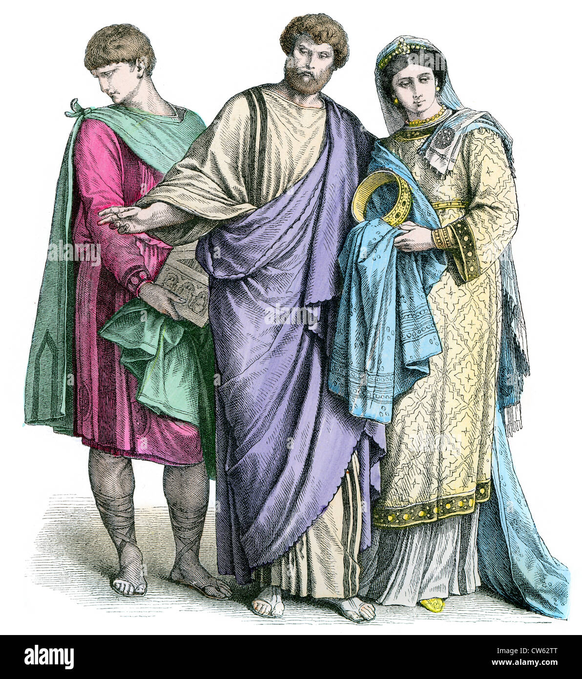 Early Christians from the 4th to 6th Century period - Stock Image
