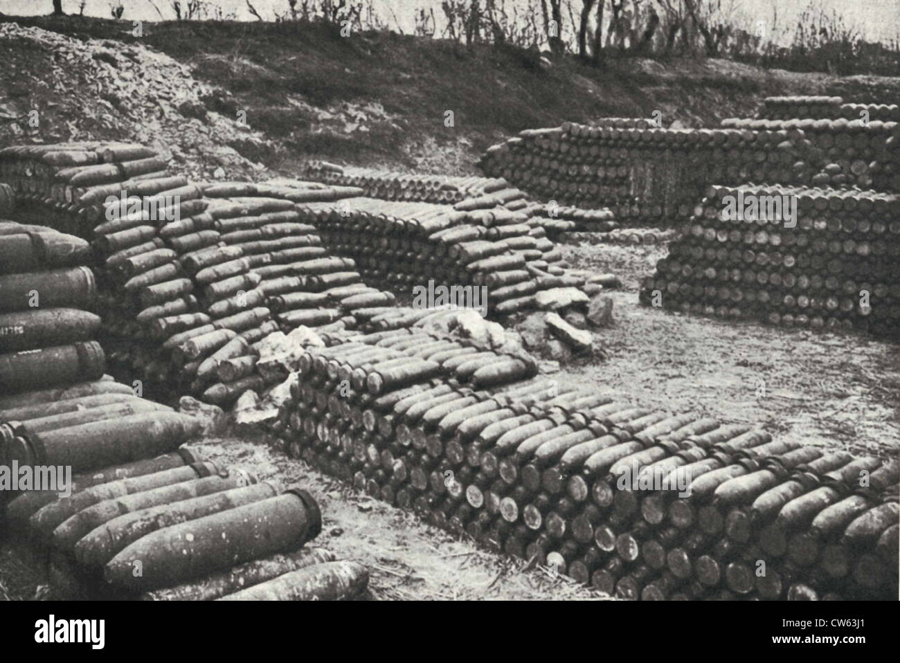 Amunition supplies for the Battle of Verdun - Stock Image