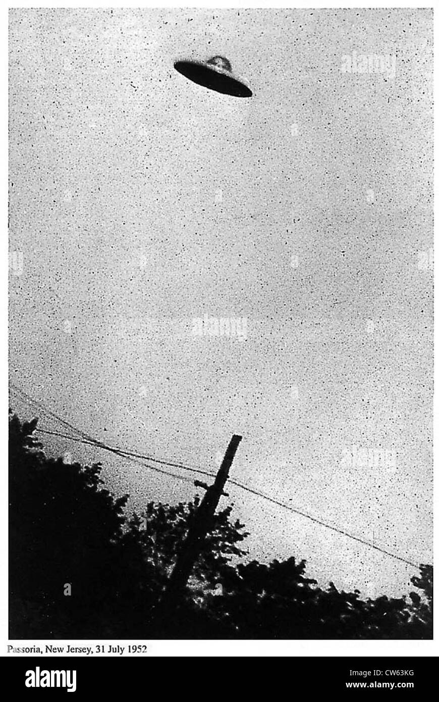 Image of purported UFO, Passoria, New Jersey, USA, 31st July 1952 - Stock Image