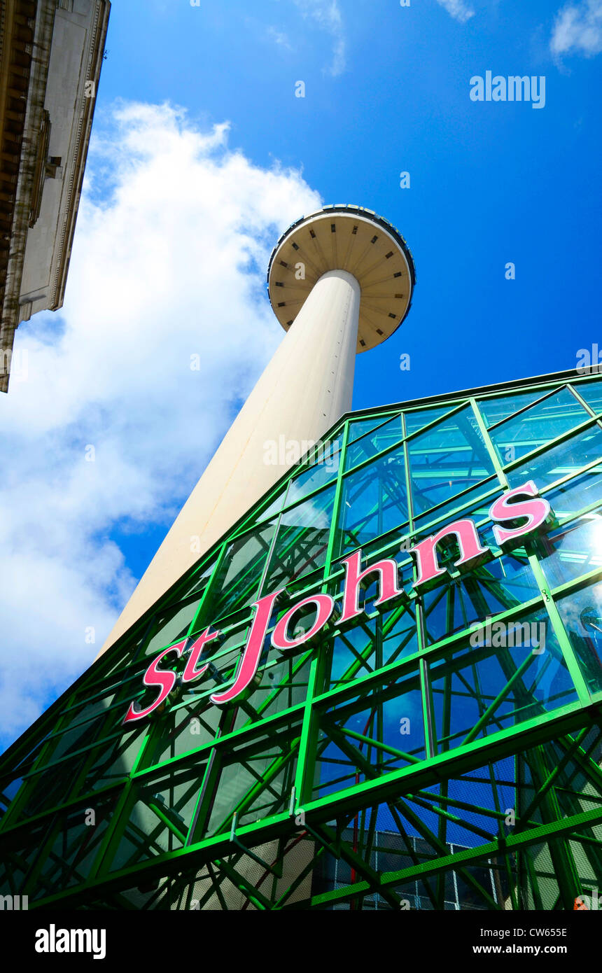 The St.Johns Beacon in the city centre of Liverpool. UK Stock Photo